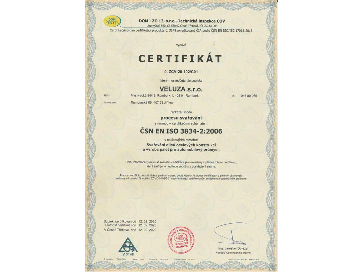 ČSN EN ISO 3834-2:2006